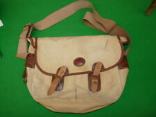 Fine vintage Barbour canvas/leather game or fishing bag, laid flat measures 1...