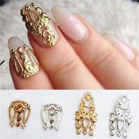 Charm 10x 3D Hollow Nail Art Alloy Tips Decoration Jewelry Glitter Rhinestone fo