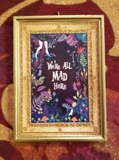 Alice In Wonderland Inspired We're All Mad Here Handmade Christmas Tree Ornament