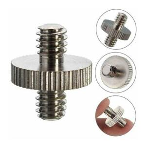"""1/4"""" Male to 1/4"""" Male Threaded Camera Screw Adapter For Tripod Mount HOT"""