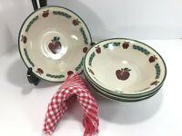 "4 Ingleman Apple-Jack 8"" Dia. Cereal Soup Salad Bowls 18oz Oven Micro Dish Safe"