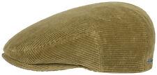 STETSON Manchester Corduroy Slide Flat Cap Hat Cap Kent 7 Beige New Trend