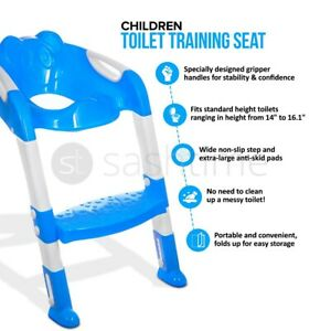 KIDS BABY TODDLER SAFETY POTTY TRAINING TOILET STEP LADDER LOO SEAT TRAINER STEP