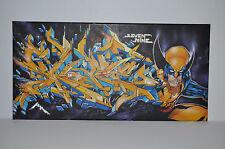 "Graffiti toile ""Skore 79"" 60 x 30 cm Original! Berlin Old School!"