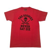 "The Goonies ""NEVER SAY DIE"" T-shirt Red MEDIUM Loot Anime - NEW"