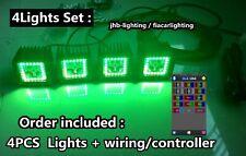 "3x3"" 12W CREE LED Chaser Halo off-road Work Lights x4PCS Set Bluetooth Control"