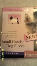 Small hooded dog fleece pink