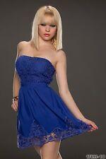 Party Club Wear Elegant Cocktail Bandeau Mini Dress UK size 10-12 - Blue