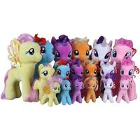 "TY  MY LITTLE PONY SOFT PLUSH TOYS 11"",  7"" AND 4"" KEY CLIP - GENUINE TY PRODUCT"