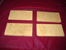 ENCAUSTIC TILE  : A.E. Tile Company  Lot of 4,  3x6 DK TAN color