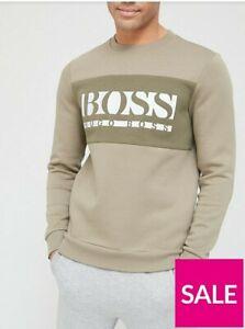 Boss One Story Salbo 1 Logo Sweatshirt  - Dark Green Size 2XL