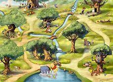 254x184cm Green Wall mural wallpaper chlildrens room Winnie the Pooh Disney