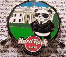 2015 HARD ROCK CAFE WASHINGTON DC SECRET SERVICE PANDA/WHITE HOUSE DRUM PIN