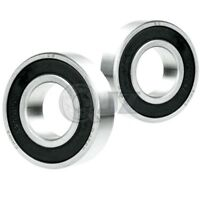 2x 2205-2RS Self Aligning Ball Bearing 52mm x 25mm x 18mm NEW Rubber
