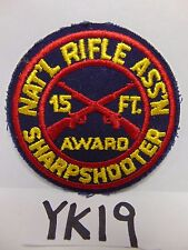VINTAGE EMBROIDERED PATCH NATIONAL RIFLE ASS'N ASSOCIATION SHARP SHOOTER 15'