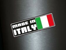 1 x autocollant MADE IN ITALY NOIR sticker adhésif turbo tuning stickerbomb IT