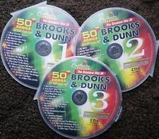 BROOKS & DUNN 3 CDG COUNTRY SET CHARTBUSTER KARAOKE 50 SONGS CD+G MUSIC 5069