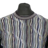 Vintage Cosby Sweater | Jumper Knit Knitwear 3D Patterned Coogi Style Retro 90s
