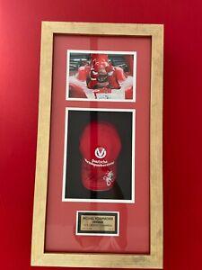 Framed Michael Schumacher Hand Signed Ferrari Cap 2006 COA