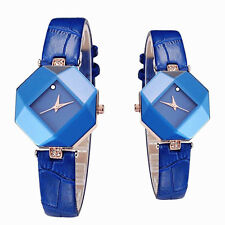 Irregular Shape Ladies Big rhinestone wristwatch watch gold plated