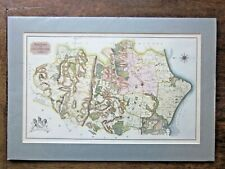 1815 Chichester Dallaway Old Antique Map Sussex Midhurst Petworth Goodwood RARE