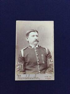 Antique Fire Brigade Captain Bendigo Victoria Australia Cabinet Photograph Card