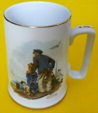 Norman Rockwell 1985 Collectible Coffee Mug Cup Looking Out To Sea