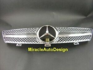 CHROME FRONT GRILL SET FOR 2005-2008 MERCEDES BENZ W219 CLS-CLASS (Sedan & Coupe