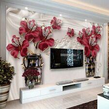 3d Flower Wallpapers Living Room Bedroom Wall Murals Elegant Creative Wallpaper