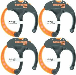 Cable Cuff PRO (4 Pack: 4x Large 3 Inch Diameter) Adjustable, Reusable