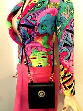 Gianni Versace 90s medusa  leather shoulder strap purse or clutch bag