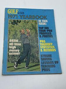 Vintage PGA Golf & Club 1971 Yearbook Collectible Magazine