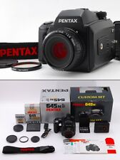 =TOP MINT in BOX= Pentax 645N Custom Set, A 645 75mm Lens, Strap from Japan #s25