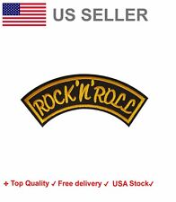 Rock and Roll Embroidered Iron On Sew On Patches Applique band embroidery badge