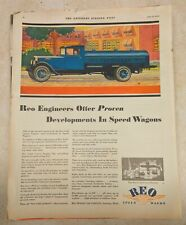 1930 REO SPEED WAGON Original Paper Ad from The Saturday Evening Post Magazine