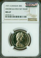 1971 CANADA 50 CENTS NGC MAC MS67 PQ SPOTLESS *