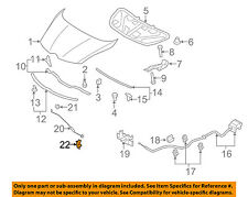 MAZDA OEM 04-09 3 Hood-Latch Lock Release Cable BP4K56720C