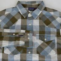 Patagonia Men's S Small Plaid Long Sleeve 100% Organic Cotton Button Front