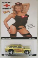 Hot Wheels CUSTOM CHEVY NOMAD Naughty Nurse Real Riders Limited 1/25 Made!