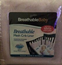 New BreathableBaby Breathable Pink Mesh Crib Liner Bumper One Size