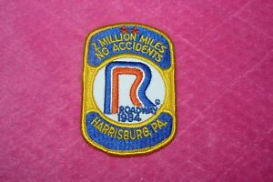 2 Million Miles No Accidents Roadway 1984 Harrisburg PA Two Identical Patches