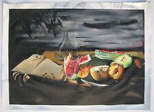 Adrian BORDA DANUT (Reghin Romania 1978) Natura morta surrealist Olio tela 52x75