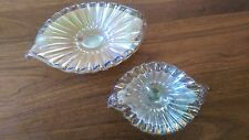 Pair of Early Murano Glass Orderve or Trinket Dishes