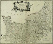 FRANKREICH NORMANDIE - Robert de Vaugondy - Kupferstich Karte 1751