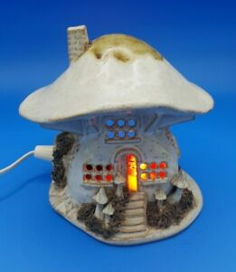 Vintage Mushroom Toad Stool House Lamp Pygmy Red Bulb Studio Ceramic Light Gift