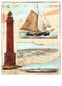 """Kunstdruck - """"Norderneyer Blatt"""" (Leuchtturm Norderney)- von OLE WEST - (184)"""