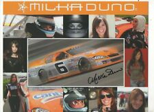 MILKA DUNO HAND SIGNED AUTOGRAPH HERO DRIVERS CARD