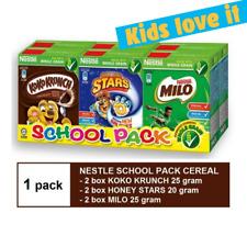 Nestle School Pack Cereal MIX (Kokokrunch Honeystar Milo 25/20g x 6)