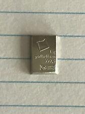 1 gram palladium bar