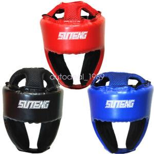 Adult Boxing Headgear Sanda Taekwondo Helmet Sparring Head Guard Protective Gear